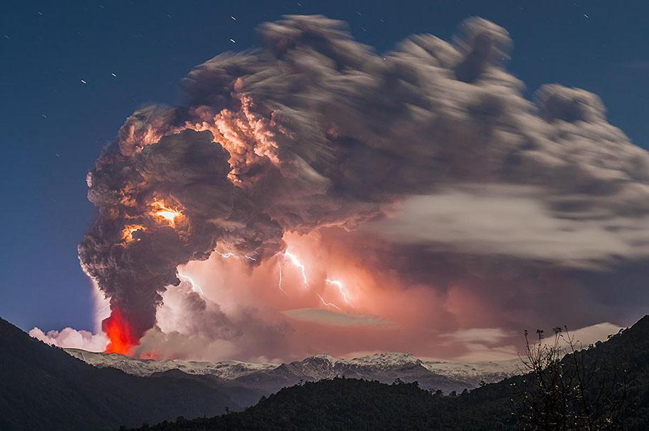 Как прекрасен этот мир Erupted-volcano-chile-francisco-negroni-5