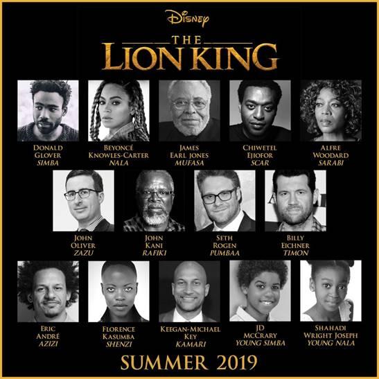 « Le Roi Lion » dévoile son casting 5 étoiles pour sa version en live-action ! Par Jérémy B.         Image002