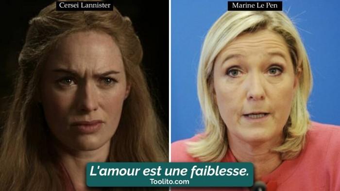 [Humour] - Nos politiques et Game of Thrones Cersei-marine-le-pen