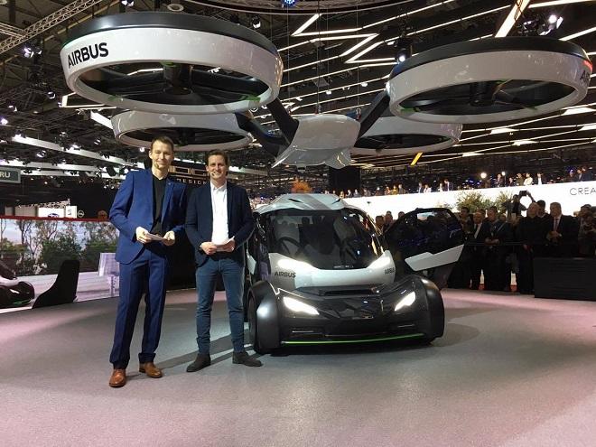 Avec Pop.Up, sa voiture volante électrique et autonome, Airbus rentre dans la course des véhicules futuristes... Et ça en jette ! Par Jérémy B. C6UPiOhWYAACXva