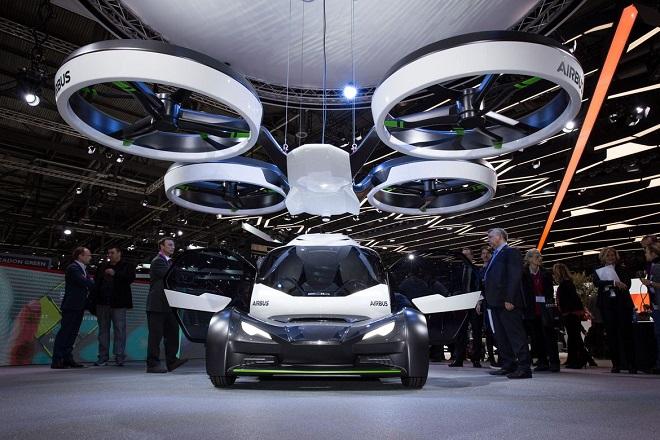 Avec Pop.Up, sa voiture volante électrique et autonome, Airbus rentre dans la course des véhicules futuristes... Et ça en jette ! Par Jérémy B. Airbus-italdesign-pop-up-drone-car-concept-geneva-2