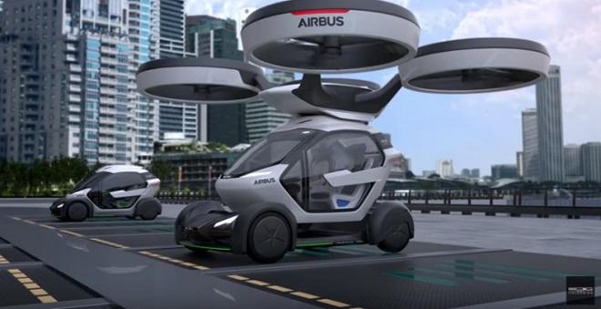 Avec Pop.Up, sa voiture volante électrique et autonome, Airbus rentre dans la course des véhicules futuristes... Et ça en jette ! Par Jérémy B. Popup