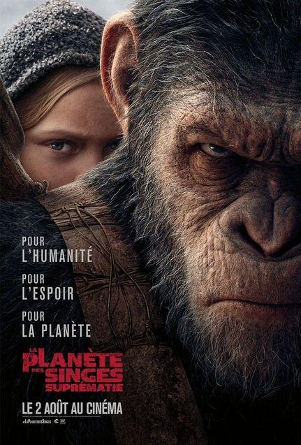 Découvrez la dernière bande-annonce intense de « La Planète des Singes - Suprématie » ! Par Marine B.                        La-planete-des-singes-suprematie-affiche-francaise-990925