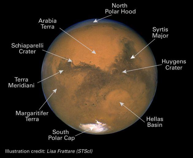 Marte e calotas gelo polares no Mak 90? MarsHST1