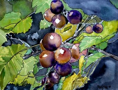 Kineska poezija Grape_vine_fruit_painting
