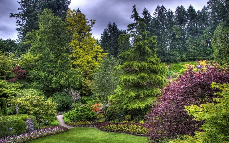 Parkovi i vrtovi Butchart-gardens-victoria-canada-hdr-garden-park-landscapes-background-155715