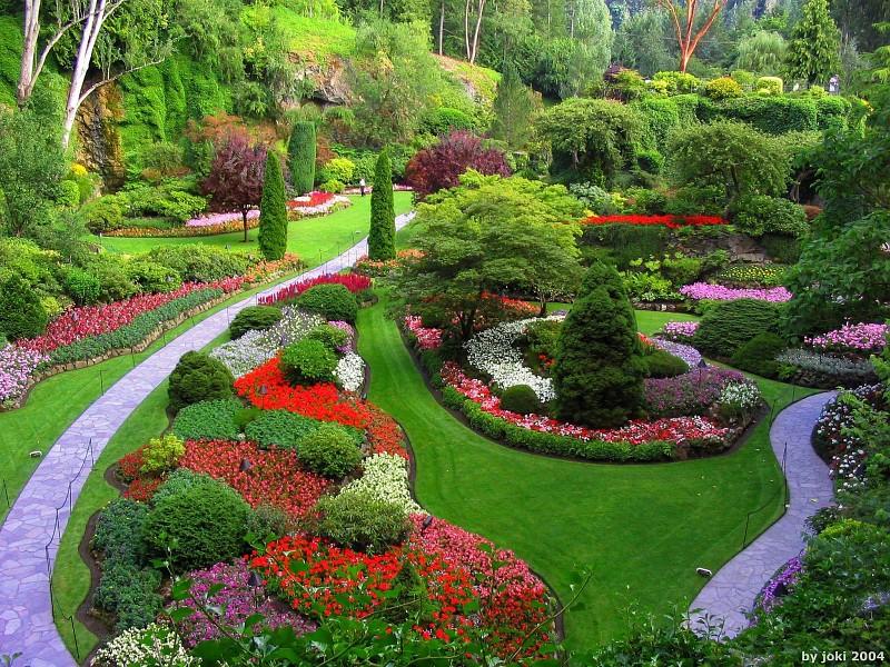 Parkovi i vrtovi Flower-garden-path-pics-17937