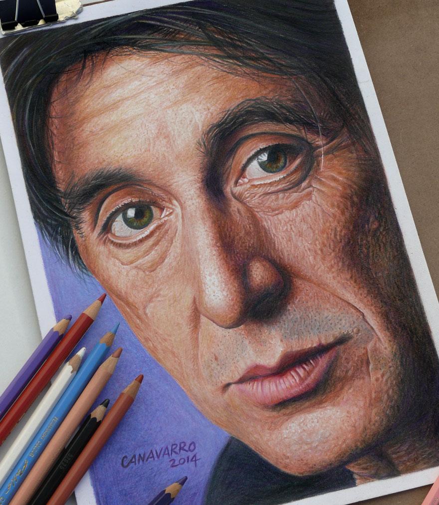 Les portraits au crayon hyper-réalistes Les-dessins-aux-crayons-hyper-realistes-al-pacino-par-Nestor-Canavarro