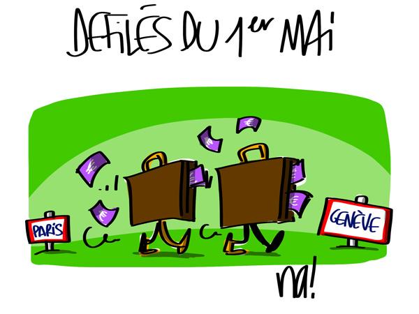 A RIRE OU EN PLEURER OU REVUE DE PRESSE SATIRIQUE - Page 5 1187_defile_suisse