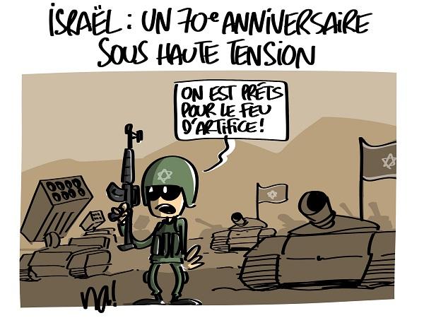 Le dessin du jour (humour en images) - Page 16 2294_70_ans_israel_sous_tension