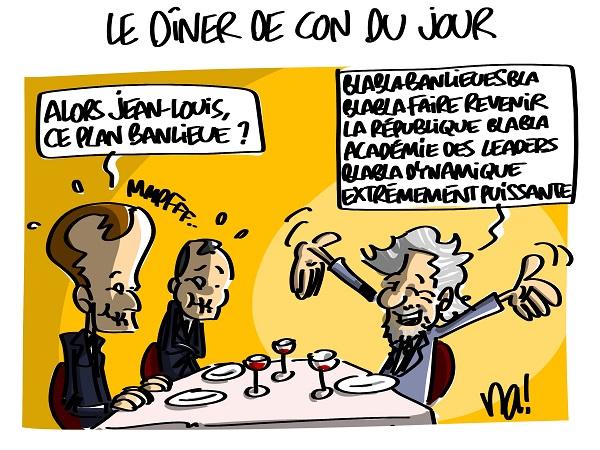 Le dessin du jour (humour en images) - Page 16 2300_le_diner_de_con_du_jour
