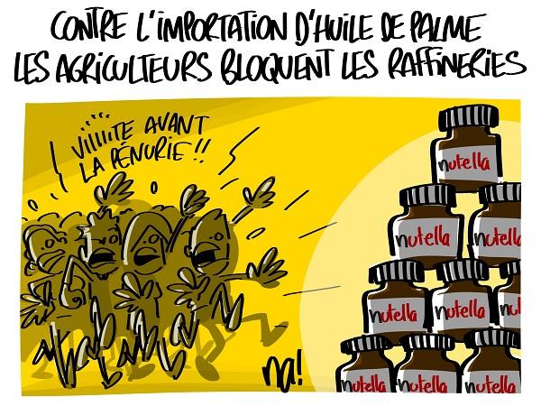 Le dessin du jour (humour en images) - Page 16 2314_agriculteurs_importation_huile_de_palme
