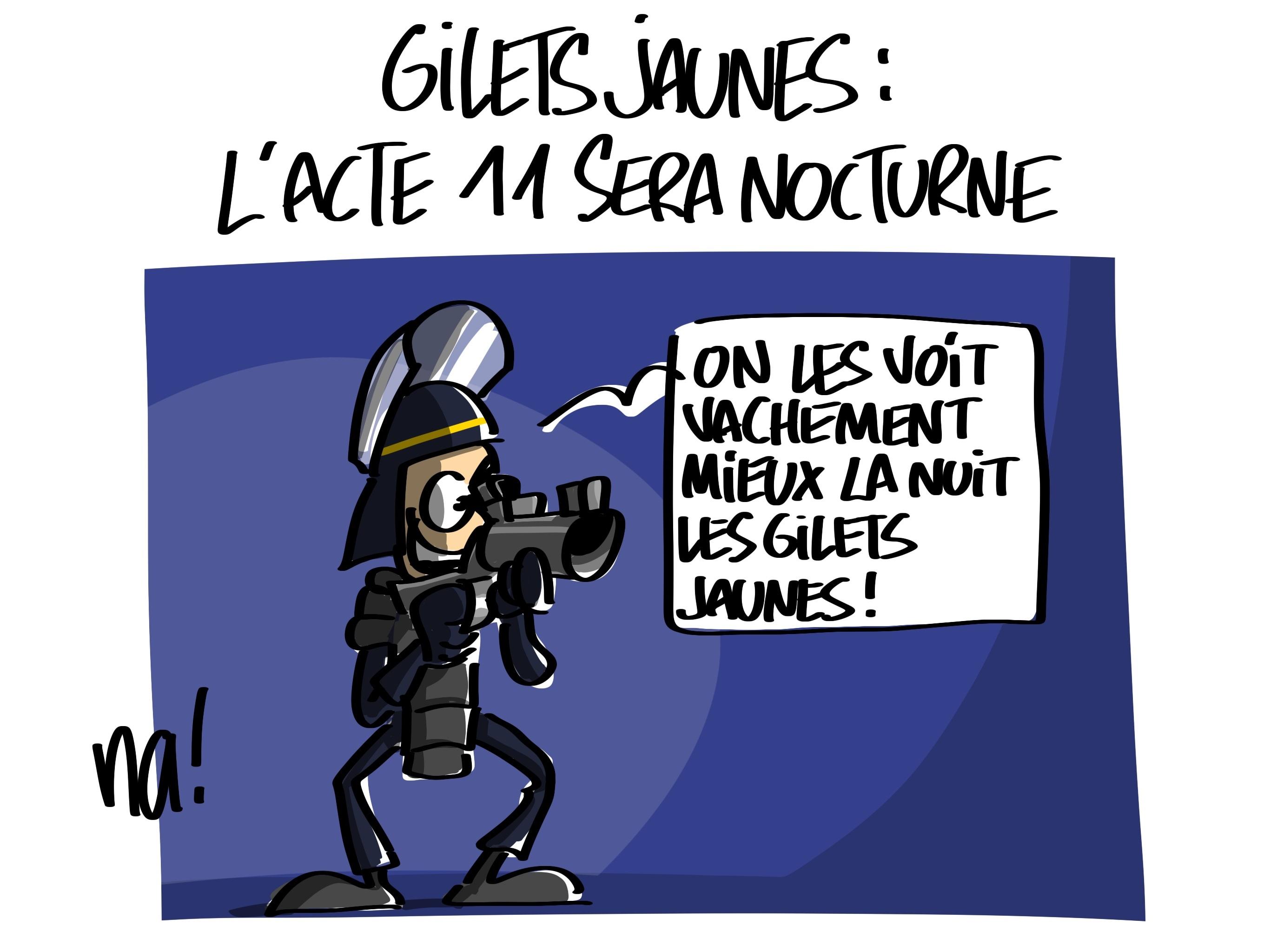Le dessin du jour (humour en images) - Page 23 2427_gilets_jaunes_nocturne