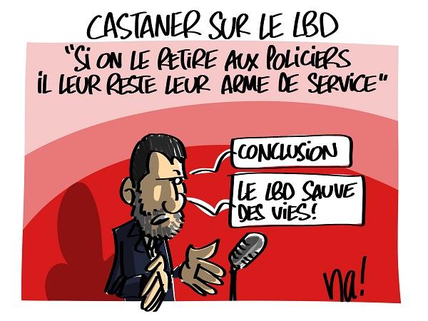 Le dessin du jour (humour en images) - Page 23 2429_castaner_sur_le_LBD