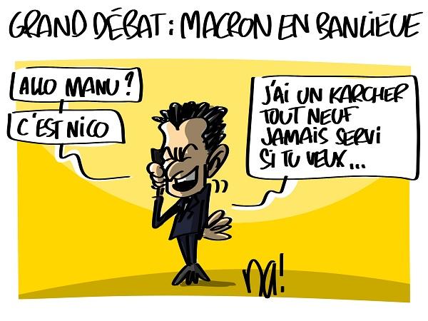 Le dessin du jour (humour en images) - Page 23 2433_grand_d%C3%A9bat_macron_en_banlieue