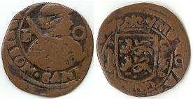 Holanda (Frisia), 2 Duit, 1644. Friese_oord_zj_x