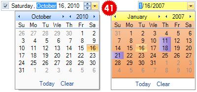 تعلم كيفية استخدام المكتبة DotNetBar لإظافة ثيم Office2007 بكل أدواته لمشروعات vb.net HomeDateTimePickerControl