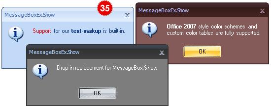 تعلم كيفية استخدام المكتبة DotNetBar لإظافة ثيم Office2007 بكل أدواته لمشروعات vb.net HomeMessageBox
