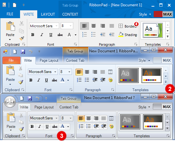 تعلم كيفية استخدام المكتبة DotNetBar لإظافة ثيم Office2007 بكل أدواته لمشروعات vb.net HomeRibbonControl