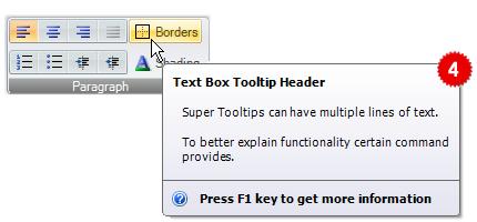 تعلم كيفية استخدام المكتبة DotNetBar لإظافة ثيم Office2007 بكل أدواته لمشروعات vb.net HomeSuperTooltips