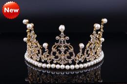 تيجان ملكية  امبراطورية فاخرة Sparkly-gold-2016-pearls-crystal-royal-wedding