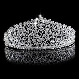 تيجان ملكية  امبراطورية فاخرة Gorgeous-sparkling-silver-big-wedding-diamante