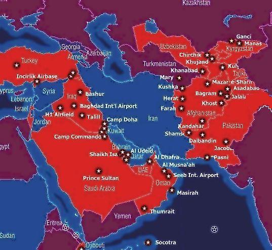 Guerra  y  presiones  contra Irán. Drones, EEUU, Israel...  301110_bases_oriente_medio