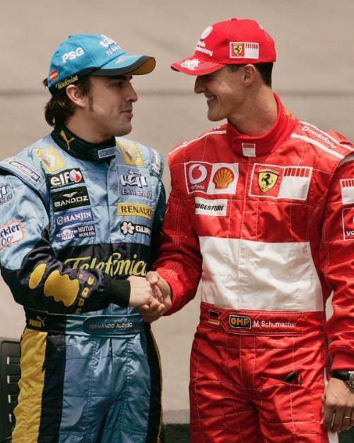 ¿Cuánto mide Michael Schumacher? - Altura - Real height Alonso%20y%20schumacher_20081226175630_500
