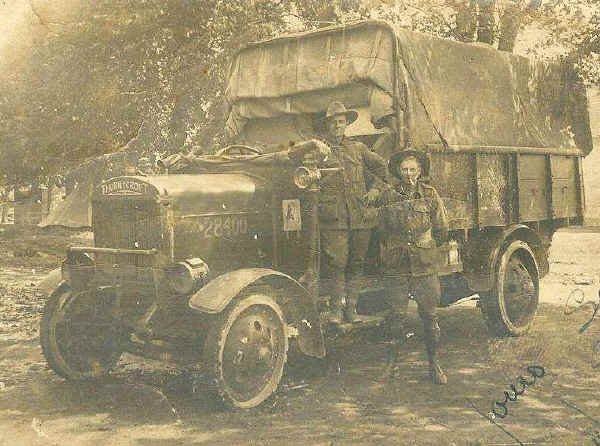 Crossley Tender et Thornycroft truck AMTS-1918