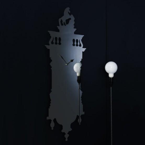 ساعات حائطية كأنها أسطورية Cool-clock-memoclok-554x554