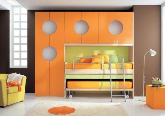 غرف نوووووم اطفال تجنن Cool-kids-rooms-10-554x388