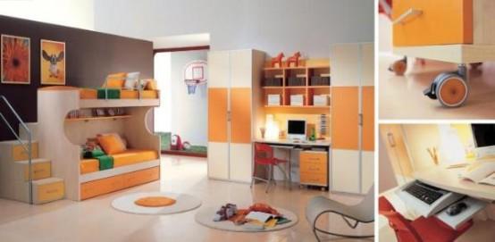غرف نوووووم اطفال تجنن Cool-kids-rooms-15-554x271