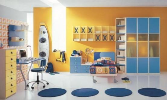 غرف نوووووم اطفال تجنن Cool-kids-rooms-5-554x334
