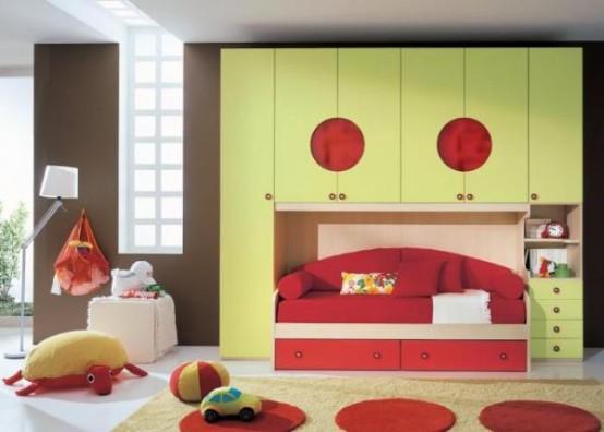 غرف نوووووم اطفال تجنن Cool-kids-rooms-7-554x396