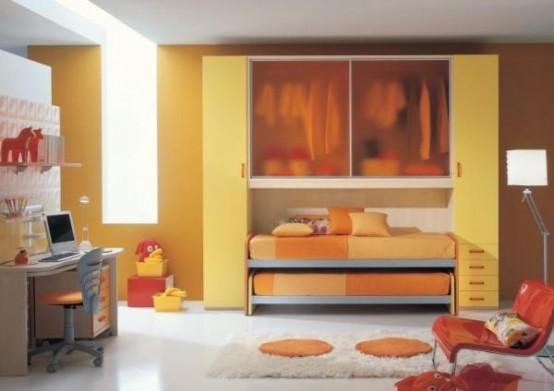غرف نوووووم اطفال تجنن Cool-kids-rooms-9-554x391