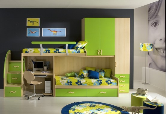 غرف للمراهقات Giessegi-rooms-for-boys-and-girls-50-554x381
