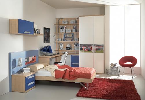 غرف نوووووم اطفال تجنن Kids-room-decor-blue-3