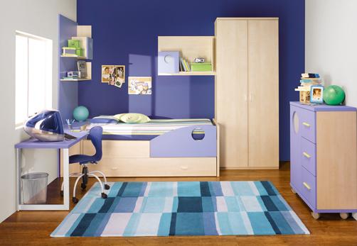 غرف نوووووم اطفال تجنن Kids-room-decor-blue-5