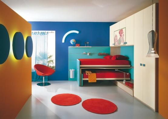 غرف نوووووم اطفال تجنن Kids-room-decor-idea-13-554x393