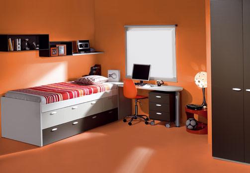 غرف نوووووم اطفال تجنن Kids-room-decor-orange-3