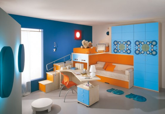 غرف نوووووم اطفال تجنن Modern-kids-room-decor-idea-11-554x382