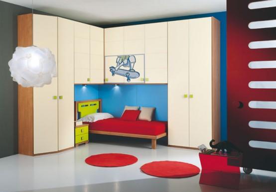 غرف نوووووم اطفال تجنن Modern-kids-room-decor-idea-18-554x386