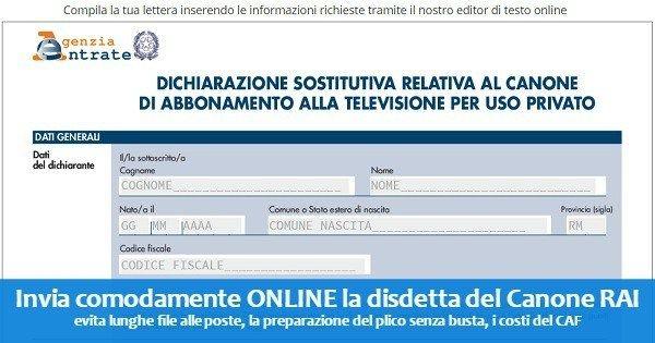 TV A CONFRONTO - Pagina 7 Disdetta-canone-rai