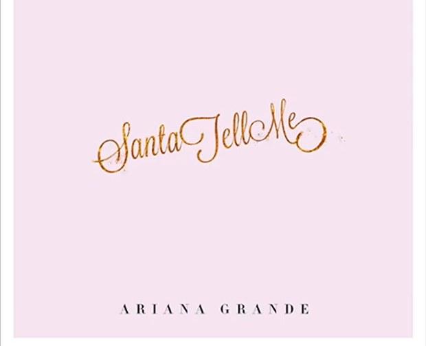 "Single » ""Santa Tell Me""  Ariana-grande-santa-tell-me-cover"