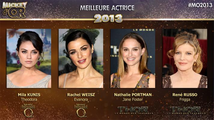Mickey d'Or 2013 : découvrez le palmarès de l'année ! Actrice2013