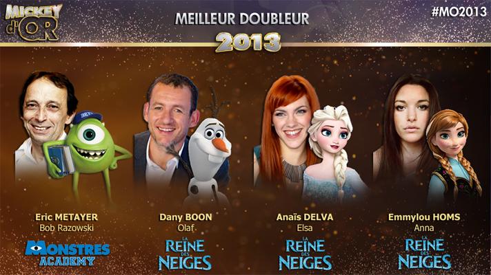 Mickey d'Or 2013 : découvrez le palmarès de l'année ! Doubleur2013