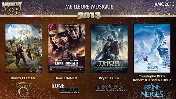 Mickey d'Or 2013 : découvrez le palmarès de l'année ! Musique2013