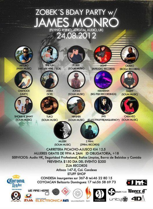 2012.08.12 Armando Jaimes [dJMS] Live @ Zobek's Birthday Event 24 Aug 2012 Flyer240812mex
