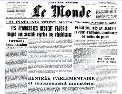 La Guerre d'Algérie en images 2-11-54
