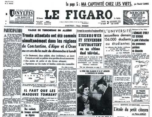 La Guerre d'Algérie en images Figaro-2-11-54